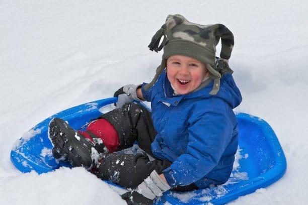 Nieve con niños
